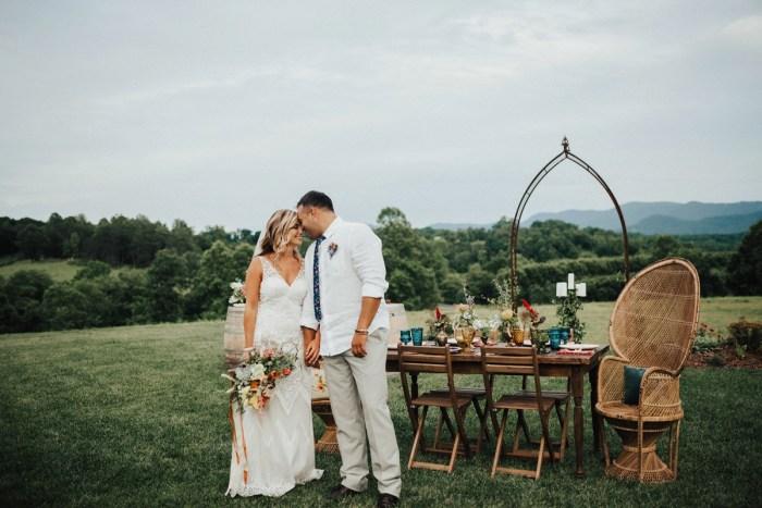 Sixties Mountain Wedding Ideas Inspired by Woodstock