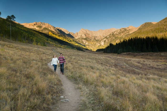 18 Fall Engagement In Vail Colorado Bergreen Photography Via MountainsideBride