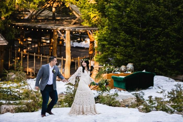 20 Big Bear Winter Wedding Inpiration Sarah Mack Photo Via MountainsideBride.com