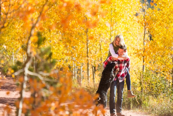3 Fall Engagement In Vail Colorado Bergreen Photography Via MountainsideBride