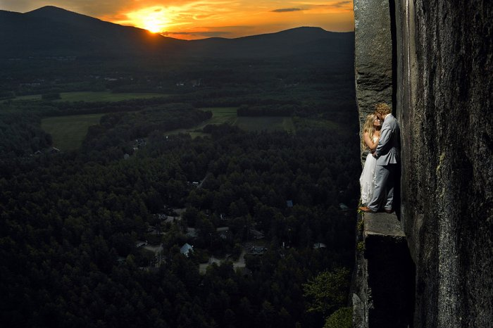 Starting At Dawn Sunris Jay Philbreck Cliff Side Wedding Photography Via MountainsideBride.com