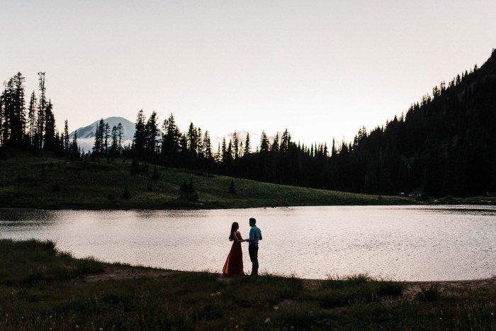 16 Mount Rainier Engagement Washington National Park The Foxes Photography Via MountainsideBride.com