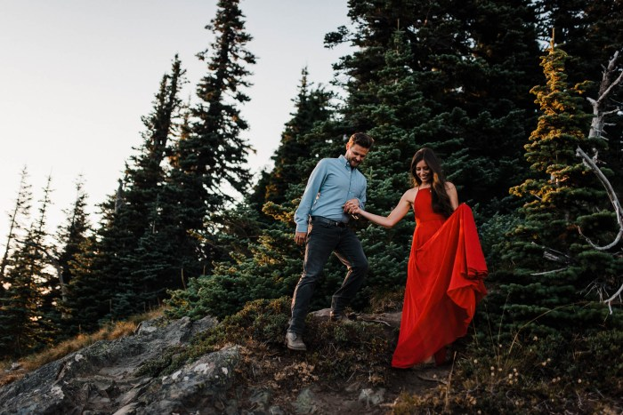 2 Mount Rainier Engagement Washington National Park The Foxes Photography Via MountainsideBride.com