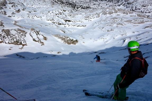 ... very steep, but also deep powder :)