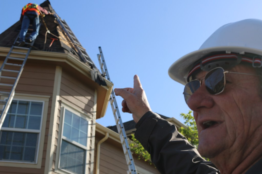Bob on the job at this roofing job in Cherry Creek Denver Colorado