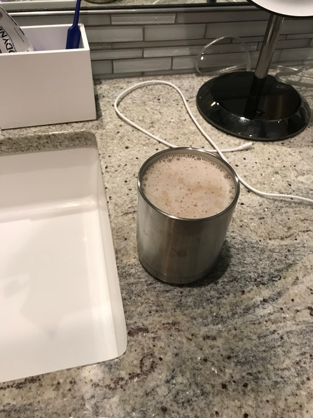 a loving husband leaves his wife coffee on the bathroom counter before he leaves for work via Ashley Stevens at Mountains Unmoved