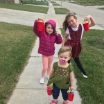 may day baskets with little girls