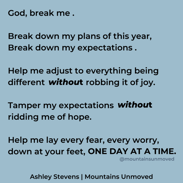 My prayer for 2020 via Ashley Stevens at Mountains Unmoved