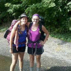 Hiker girls: pretty much pros at dealing with trail periods.