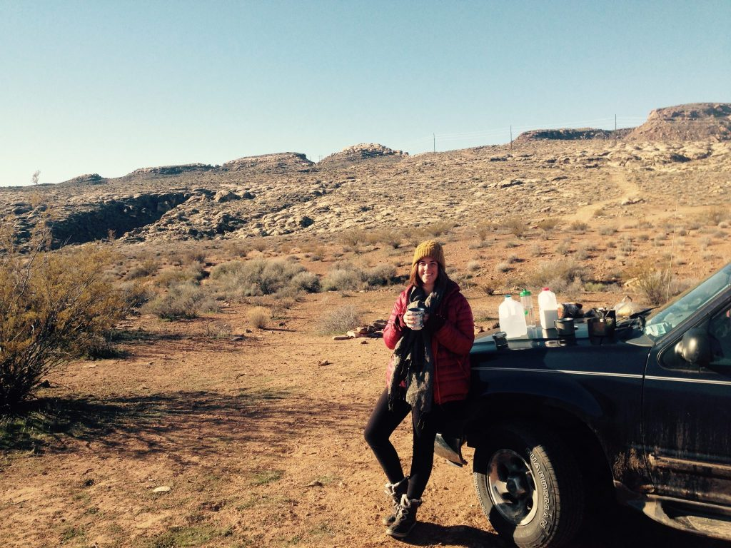Living out of my car in Utah.