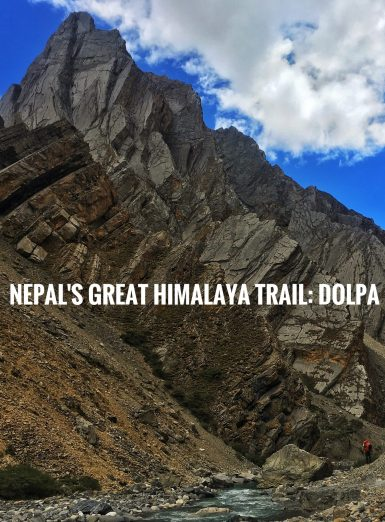 Hiking Nepal's Himalaya mountains, along the Great Himalaya Trail.