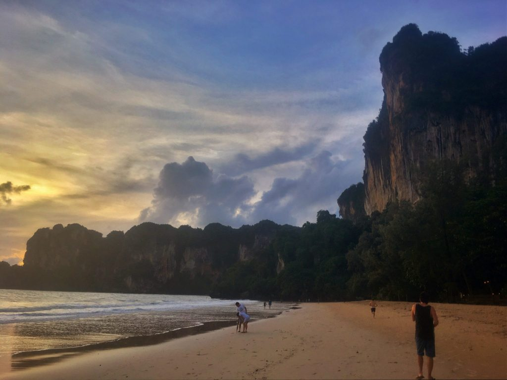 Rock climbing and relaxation are the best activities for a trip to Railay, Thailand.
