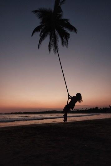 rope swing in Dikwella, Sri Lanka