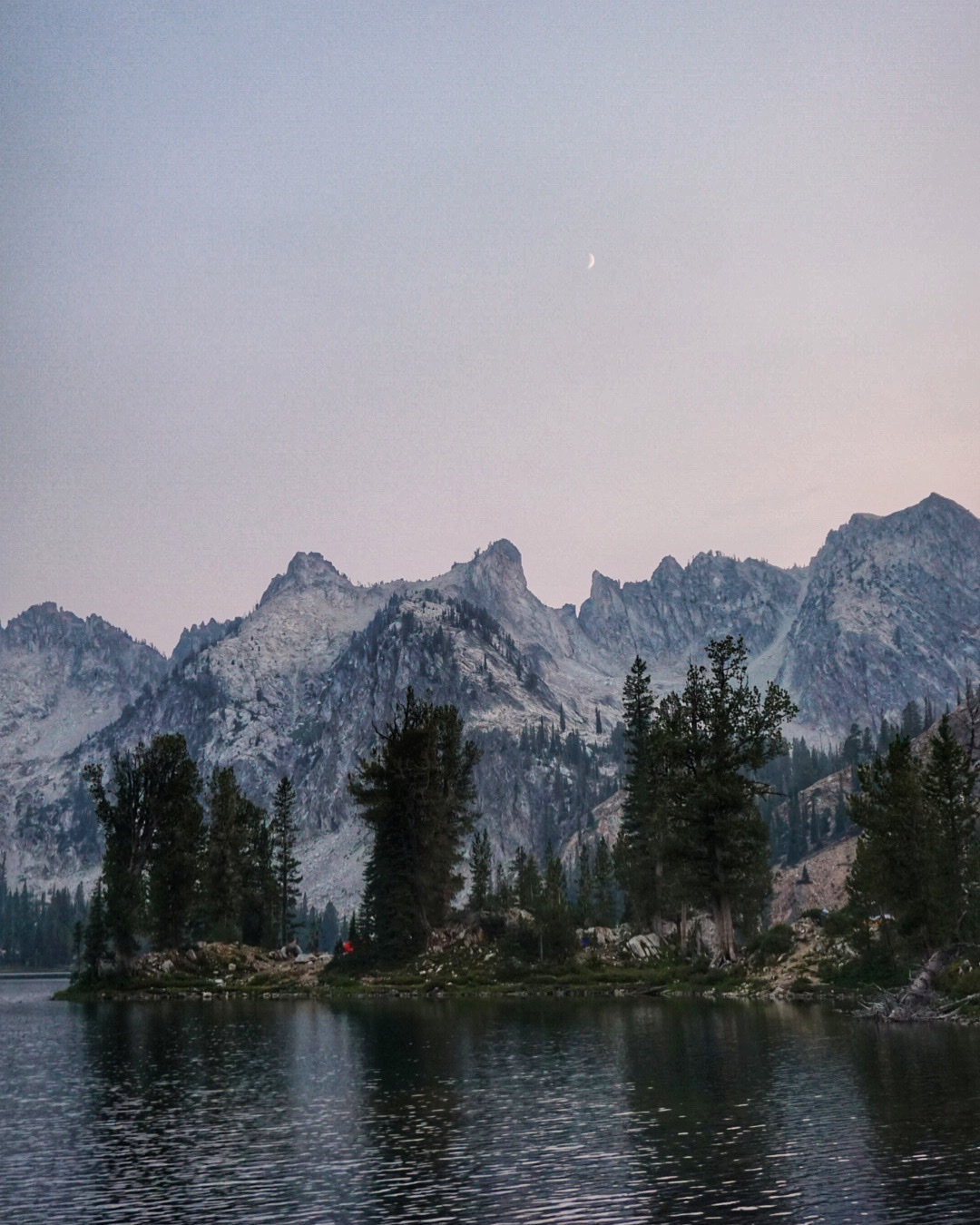 Evening on the Sawtooth Traverse.