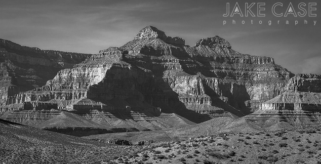 Black and White Grand Canyon