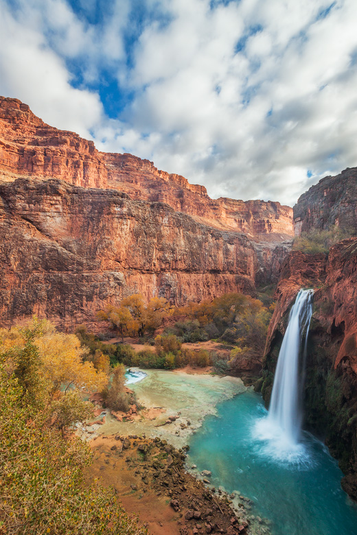 havasu falls autumn epic view