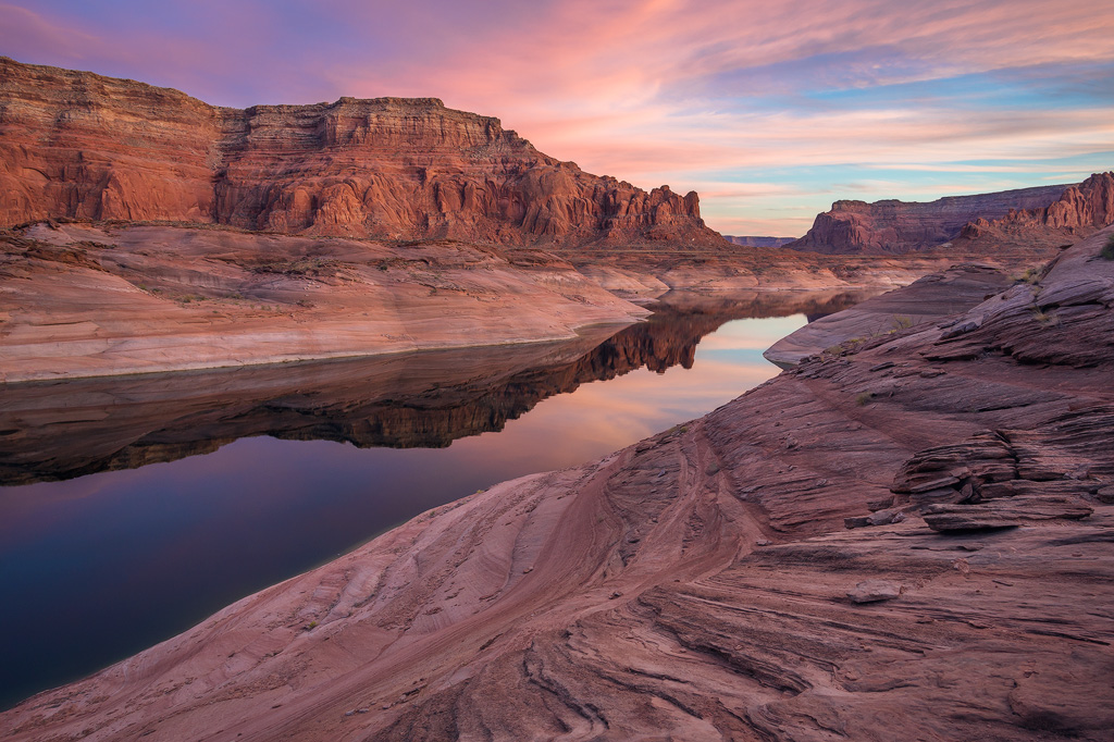 lake powell sunset utah