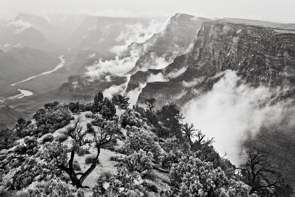 desert view grand canyon fog