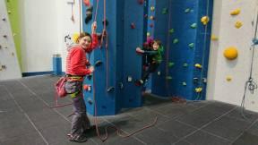 Climbing at the Beacon Climbing Wall