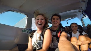 Plane ride up to skydive San pedro