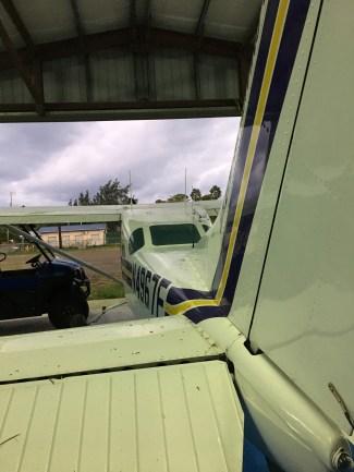 The hangar in San Pedro Belize