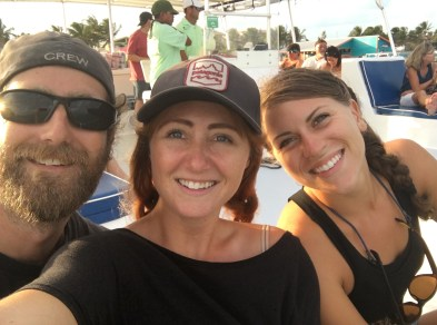 Rocky, Christina, and I on Yolo in San Pedro Belize