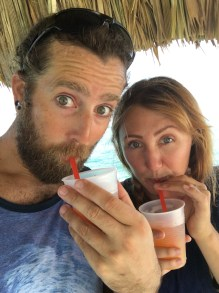 Rocky and I being silly in Ambergris Caye Belize