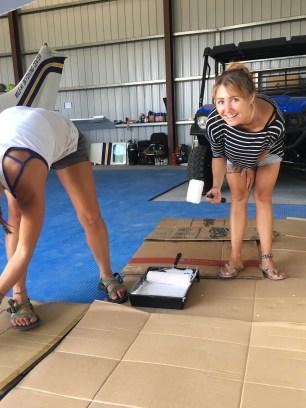 Me painting the big sign for Skydive San Pedro's hangar