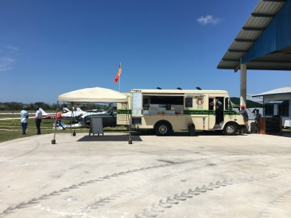 The food truck at the 2017 Fly In at Spanish Lookout Belize