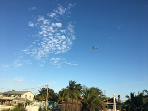 Rocky flying Skydive San Pedro's Cessna over San Pedro Belize