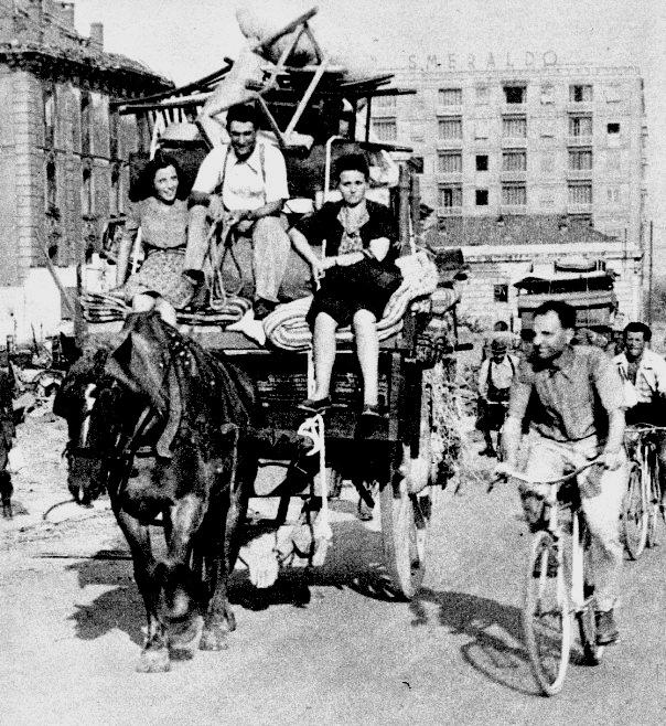 Sfollati a Milano 1943