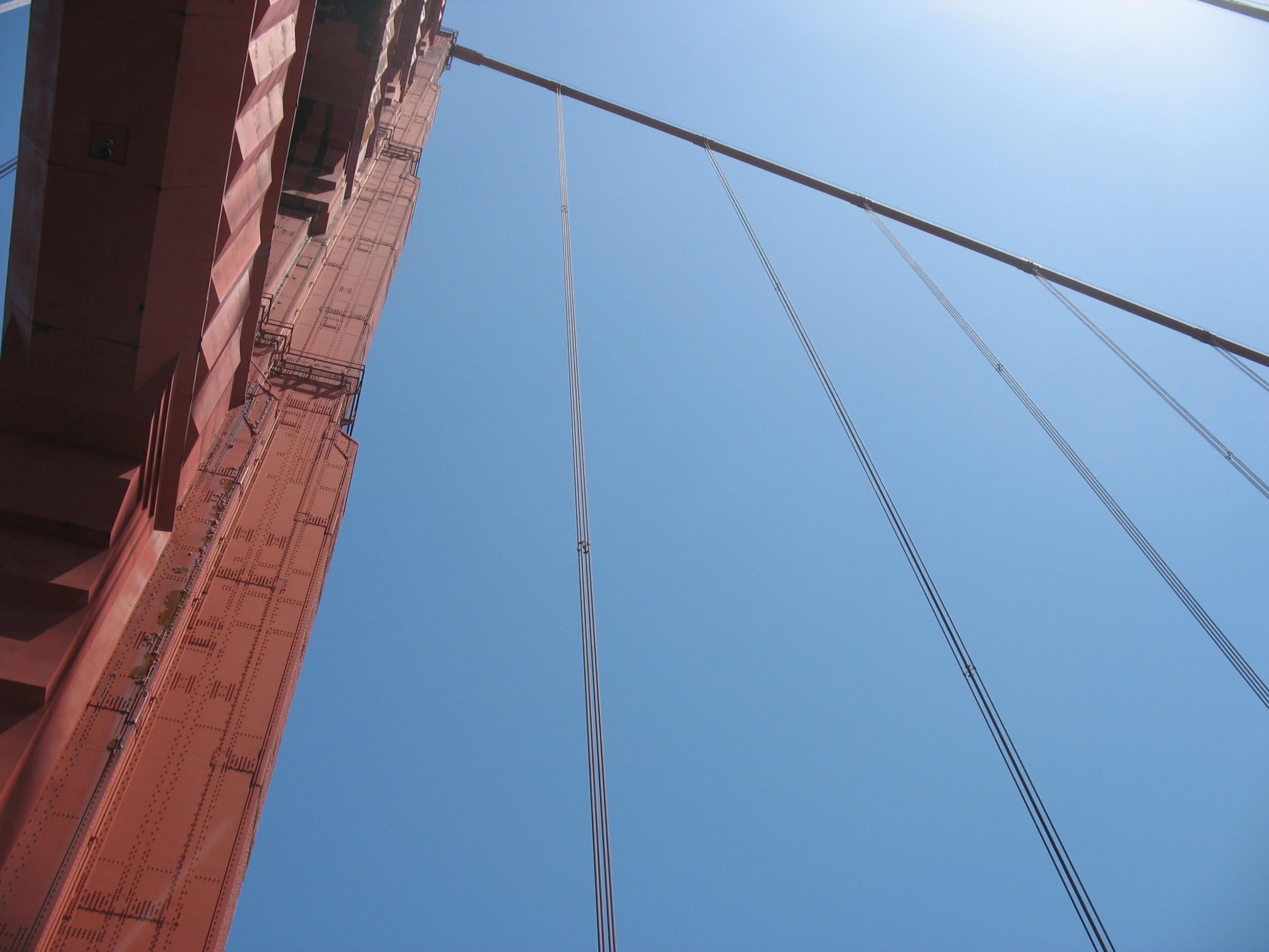 Golden Gate bridge, vanuit klimmersperspectief