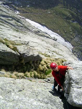 Helmuth in actie in Val di Mello