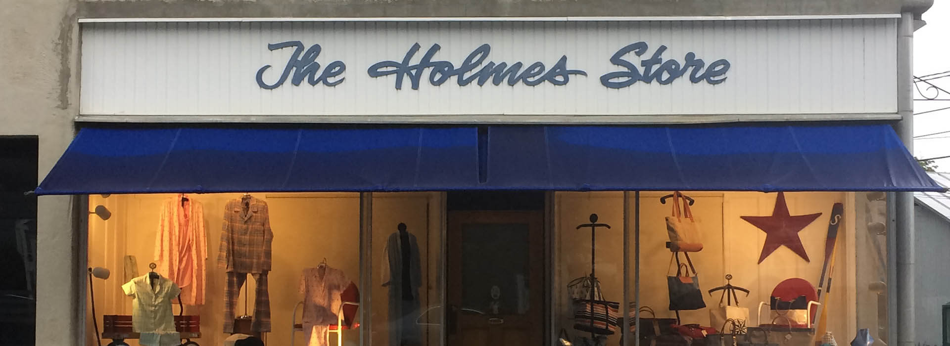 The storefront of The Holmes Store