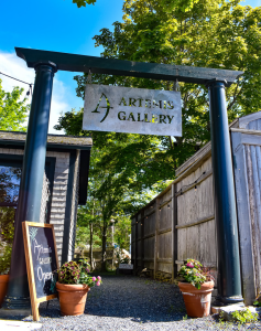 An image of the Artemis Gallery gate