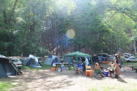 The Melbourne pagans' campsite, 2014. Photo courtesy of Kylie Moroney.