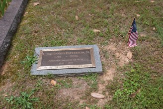 The decorated grave of a 20th century veteran
