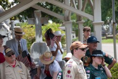 Scout troops, church groups, and community volunteers learn how to identify the veterans' graves.