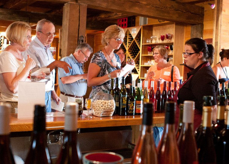Sampling at Mount Hope Wine Gallery