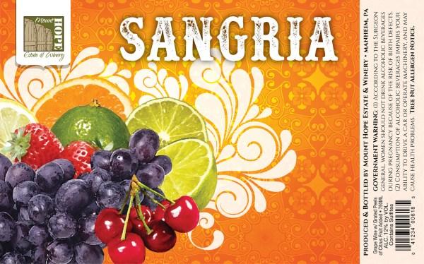 Sangria Full Label