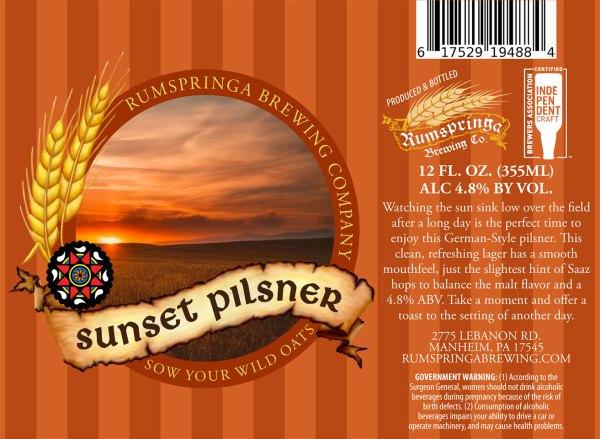 Sunset Pilsner Label