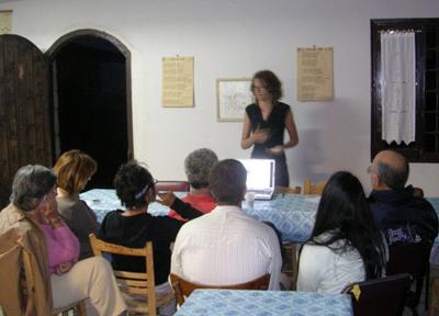 Pam Jordan presenting her Masters thesis work.