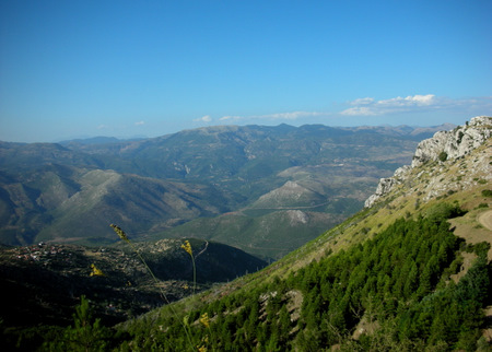View from the north face of Mt. Lykaion