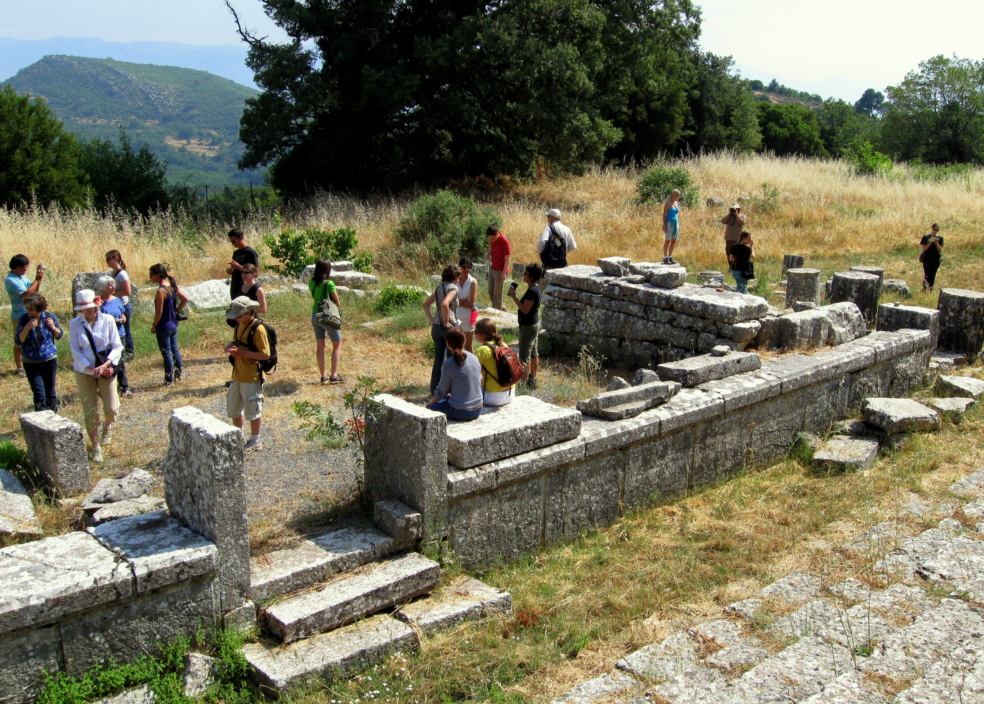 The group in the Temple of Despoina at Lykosoura