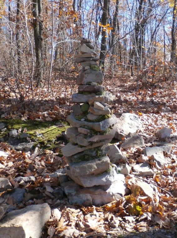 Stone sculpture at the Lynch Overlook.