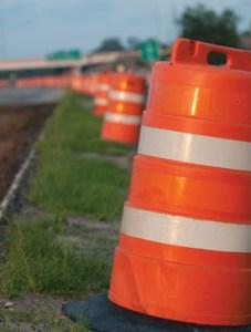 Johnnie Dodds Construction - Orange Barrels Protect Workers