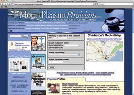 MountPleasantPhysicians.com website - screenshot