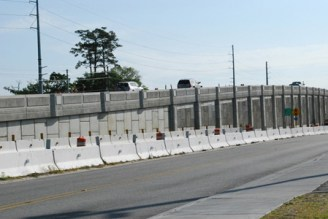 sideview of Bowman Overpass: Mount Pleasant, South Carolina