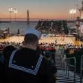 The Yorktown as a basketball court.