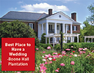 Best place to have a wedding: Boone Hall Plantation